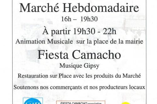 LE MARCHE HEBDOMADAIRE EN MUSIQUE